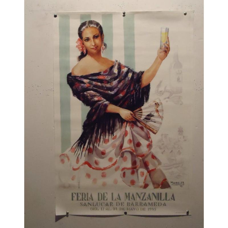 FERIA DE LA MANZANILLA .- AÑO 1995.- MED 50X70 CTM