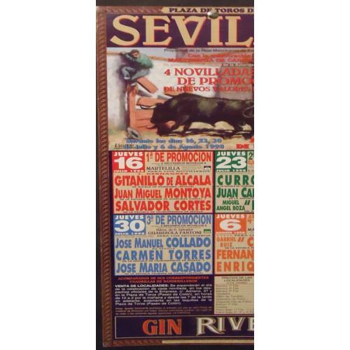 PLA. de toros de  SEVILLA .- año 1998.-  NOVILLADAS.-