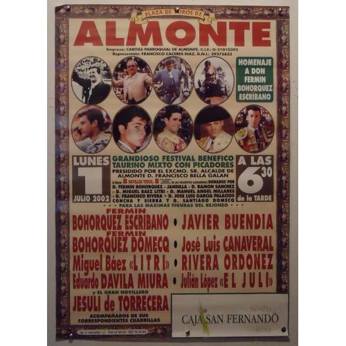 PLAZ DE TOROS DE ALMONTE-1-7-2002.-MED 50X70 CTM