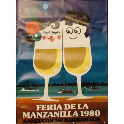 FERIA DE LA MANZANILLA.- AÑO 1980.- MED 50X 70 CTM     3 UNI