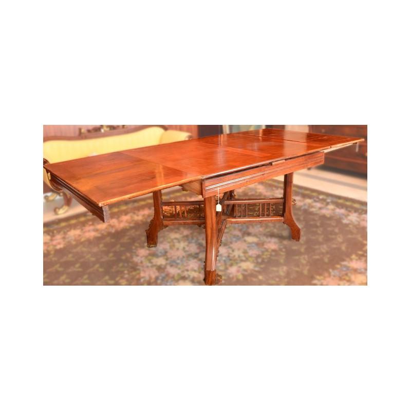 mesa de comedor extensible MADERA DE CAOBA RUBIA.-.- medidas