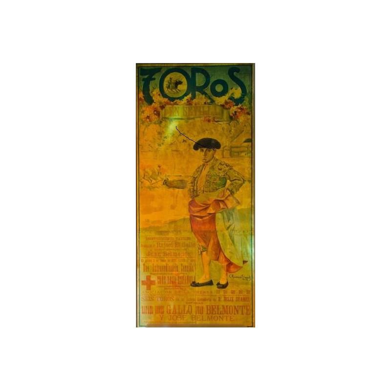 PLA DE TOROS DE SEVILLA 3 JUNIO 1926 MURAL 225X115CTM