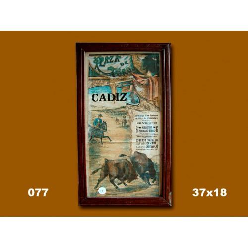 PLZ DE TOROS DE CADIZ 22-09-1929.-37X18CTM