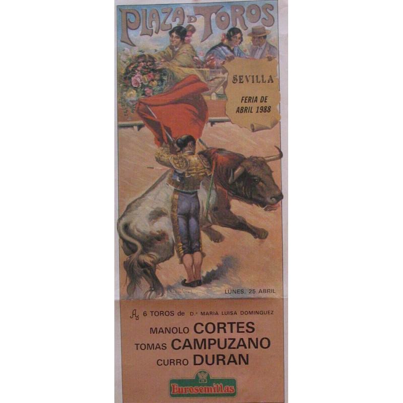 PLAZA DE TOROS DE SEVILLA.-25 ABRIL 1988