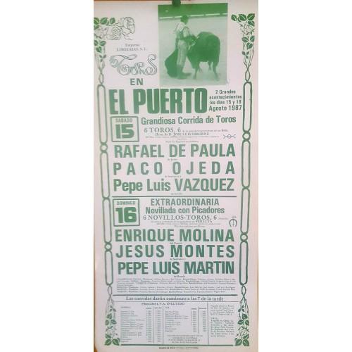 PLAZA DE TOROS PTO.STA MARIA 25/8/1987 M 22X45CTM