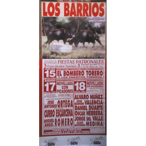 PLAZA TOROS LOS BARRIOS 14-17-18 MAYO 1997 M190X90
