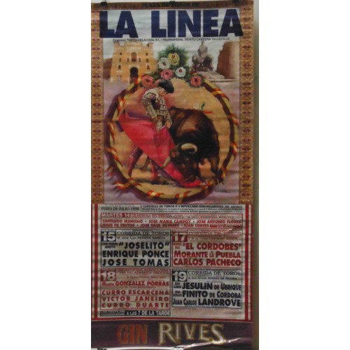 PLAZA TOROS LALINEA 14-15-17Y19JUL1998 M190X90