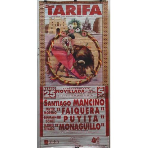 CARTEL PLAZA TOROS TARIFA 25 SEPTIEMBRE 1999 MED 190X90