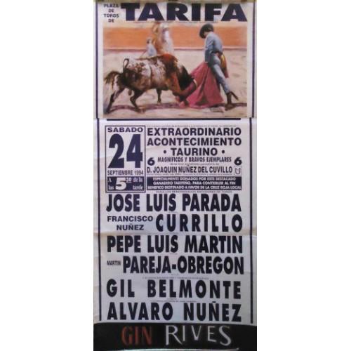 PLAZA TOR0S TARIFA 24SEPT1994ME 190X90