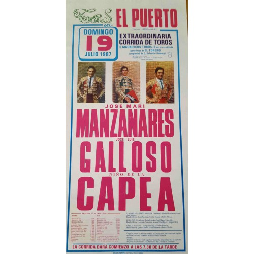 PLAZA DE TOROS PTO. STA MARIA 19/7/1987