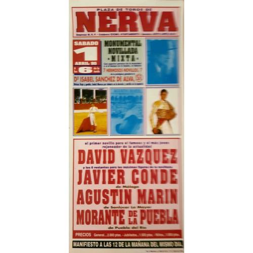 PLAZA DE TOROS DE NERVA 1/4/95.- MED 22X45CTM