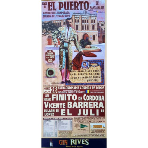 PLAZA DE TOROS DE PTO.STA MARIA28/7/2002 MED22X45CTM