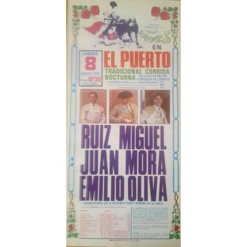 PLAZA DE TOROS PTO.STA MARIA 8/8/1987 MED 22X45CTM