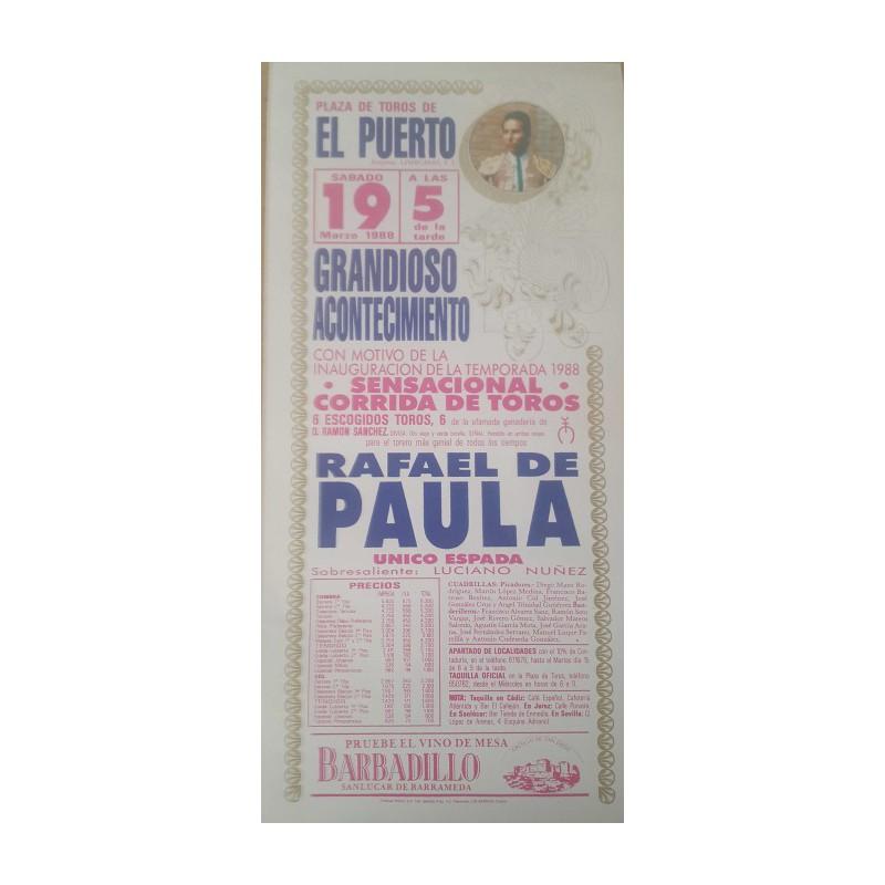 PLAZA DE TOROS DE PTO.STA MARIA 19/3/1988