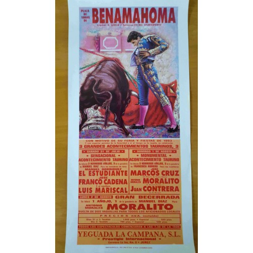 PLAZA DE TOROS BENAMAHOMA 31/7/93 MED 22X45CTM