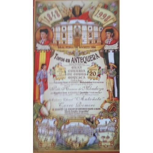 PLAZA DE TOROS DE ANTEQUERA 20/8/1998-MED 22X45CTM