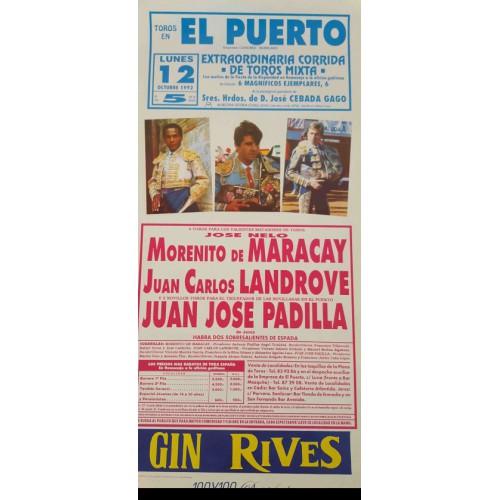 PLAZA DE TOROS PTO.STA MARIA 12/10/1992 MED 22X45CTM