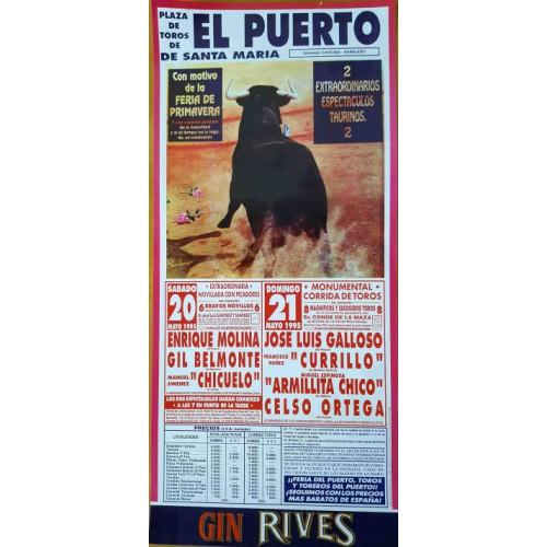 PLAZA DE TOROS DE PTO.STA MARIA 20Y21MAYO1995 MED22X45CTM