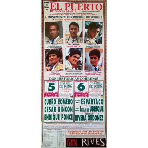 PLAZA DE TOROS PTO.STA MARIA 5Y6/8/1995/M22X45CTM