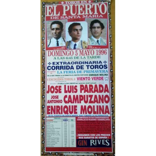 PLAZA DE TOROS PTO.STA MARIA 5/5/1996- MED 22X45CTM