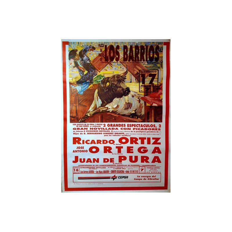PLAZA  TOROS LOS BARRIOS 17 MAYO 1992MED 50X70 CTM