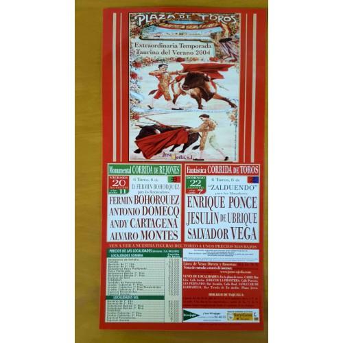 PLAZA  TOROS DE PTO.STA MARIA 29/8/2004.- MED 20X34CTM
