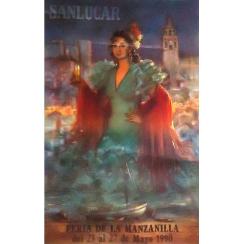 FERIA DE LA MANZANILLA.- AÑO 1990.- MED 50X 70 MCTM  8 UNI