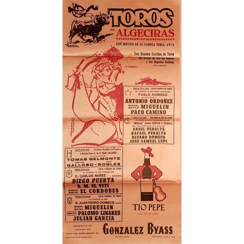 PLAZA DE TOROS DE ALGECIRAS 1971 MED 25X50XTM SEDA