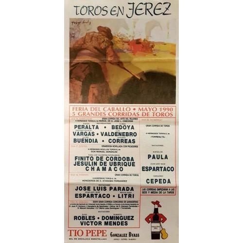 PLAZA DE TOROS  DE JEREZ DEL 16AL20MAYO1990MED25X50 CTM SEDA