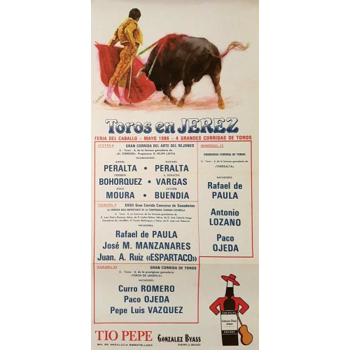 PLAZA DE TOROS DE JEREZ DEL 8AL11MAYO1986MED25X50 SEDA