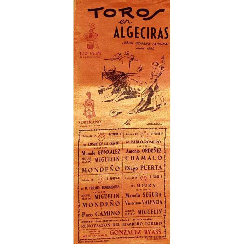 PLAZA DE TOROS DE ALGECIRAS 19-20-25-26-27 1960MED15X37CTMSEDA