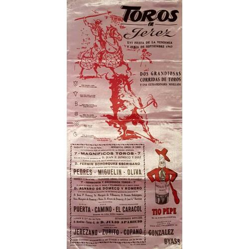 PLAZA DE TOROS DE JEREZ DEL 7AL9 SEP1962MED25X50CTM SEDA