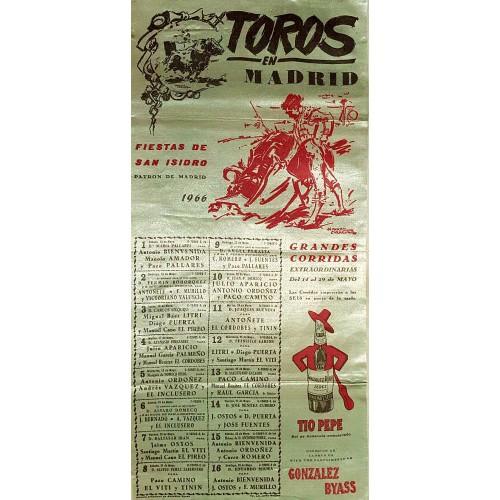 PLAZA DE TOROS DE MADRID DEL14AL29 MAYO1966 MED 2550