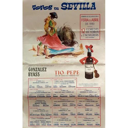 1980 PLAZA DE TOROS DE SEVILLA DEL 6/4AL4/5 1980 med 30x47CTM SEDA