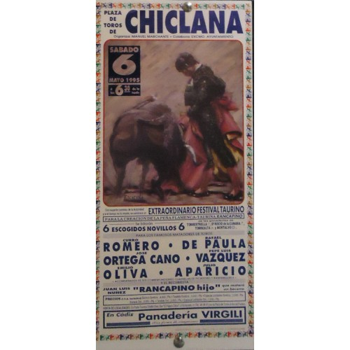 PLAZ DE TOROS DE CHICLANA 6 MAYO 1995.- MED 20X48 CTM