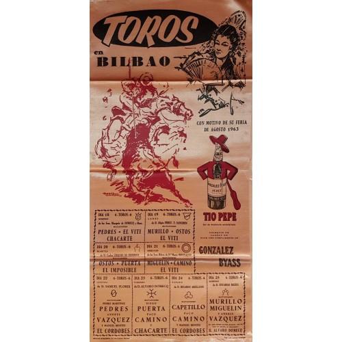 PLAZA DE TOROS DE BILBAO DEL 18AL25 AGOSTO 1963.- SEDA