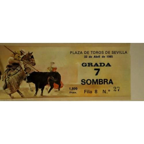 ENTRADA DE TOROS SEVILLA 22 ABRIL 1985