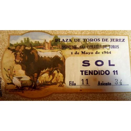 ENTRADA DE TOROS JEREZ DE LA FRONTERA 1 MAYO 1964