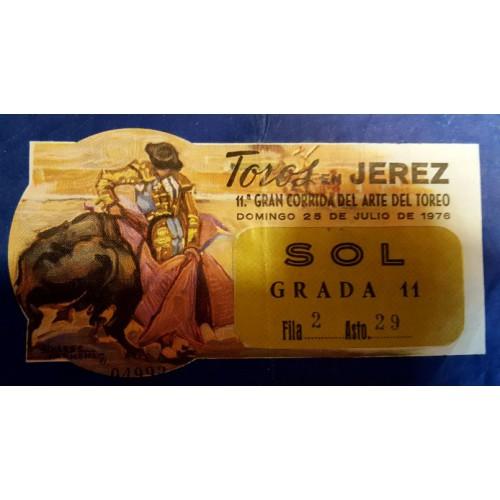 ENTRADA DE TOROS JEREZ DE LA FRONTERA 25 JULIO 1976