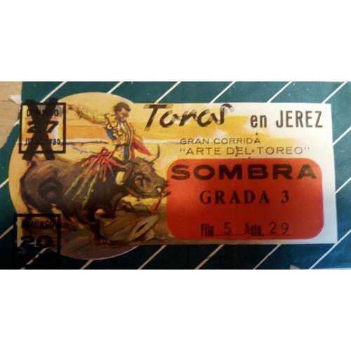 ENTRADA DE TOROS JEREZ DE LA FRONTERA 20 JULIO 1980