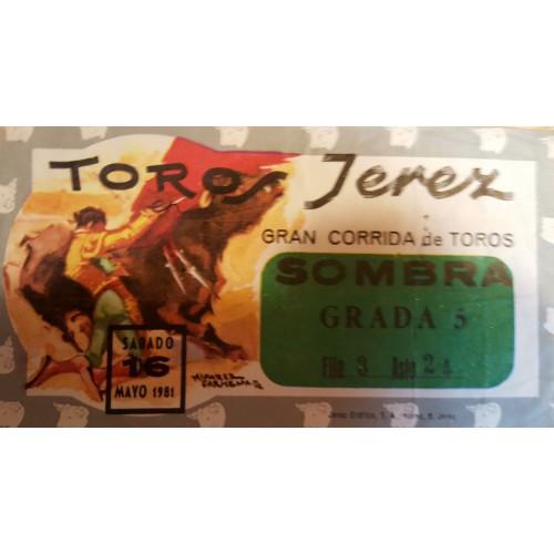 ENTRADA DE TOROS JEREZ DE LA FRONTERA 16 Y 17 MAYO 1981