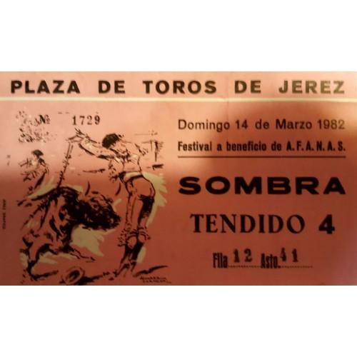ENTRADA DE TOROS JEREZ DE LA FRONTERA 14 MARZO 1982 AFANAS