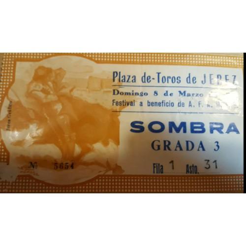 ENTRADA DE TOROS JEREZ DE LA FRONTERA 8 MARZO 1981