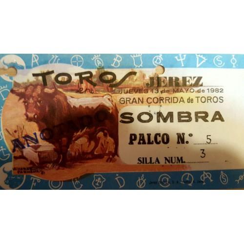 ENTRADA DE TOROS JEREZ DE LA FRONTERA 13 MAYO 1982