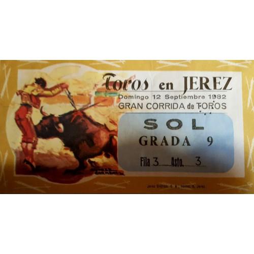 ENTRADA DE TOROS JEREZ DE LA FRONTERA 12 SEPTIEMBRE 1982