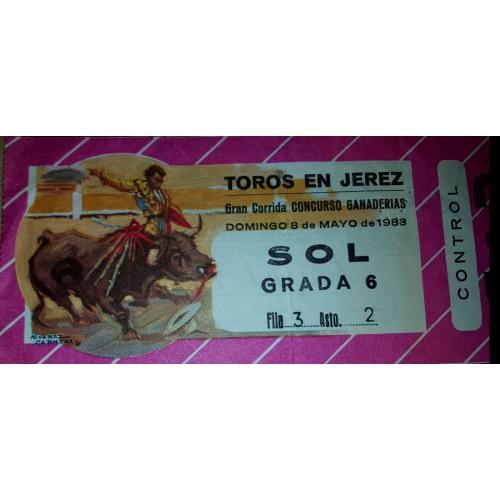 ENTRADA DE TOROS JEREZ DE LA FRONTERA 8 MAYO 1983