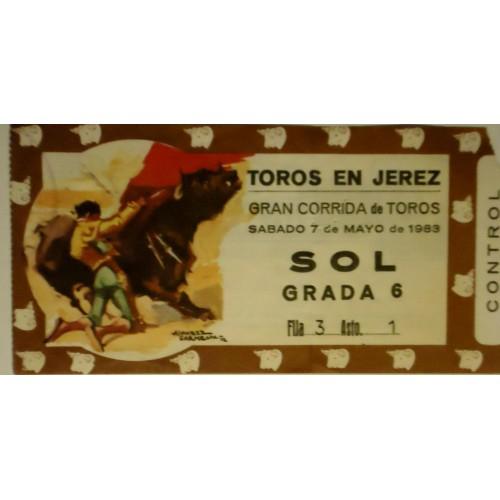ENTRADA DE TOROS JEREZ DE LA FRONTERA 7 MAYO 1983