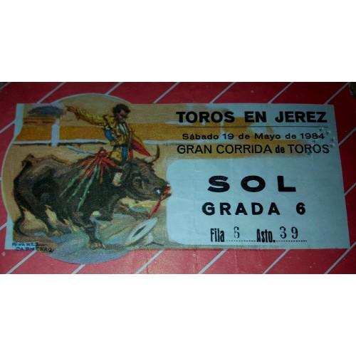 ENTRADA DE TOROS JEREZ DE LA FRONTERA 19 MAYO 1984