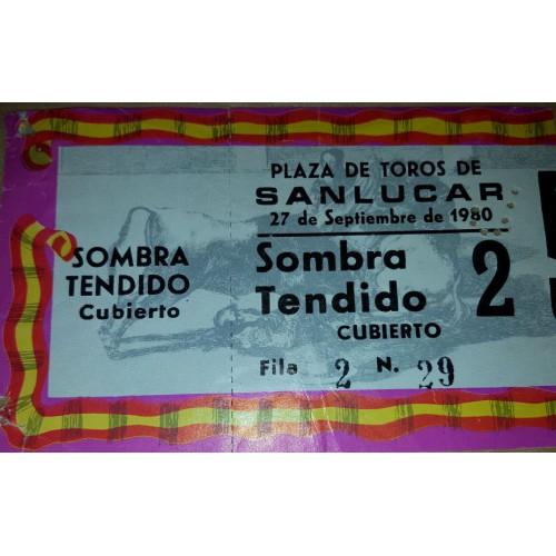 ENTRADA DE TOROS SANLUCAR DE BARRAMEDA 27 SEPTIEMBRE 198