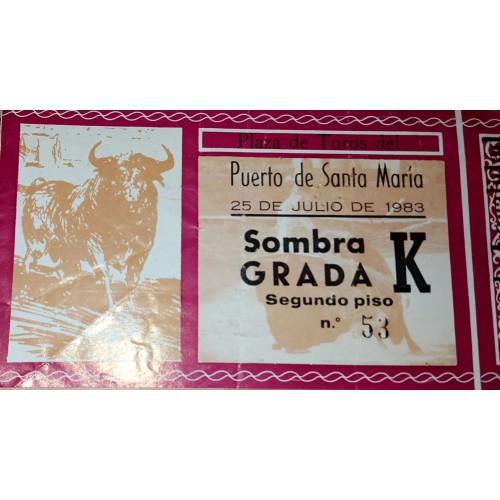 ENTRADA DE TOROS EL PUERTO DE SANTA MARIA 25 JULIO 1983